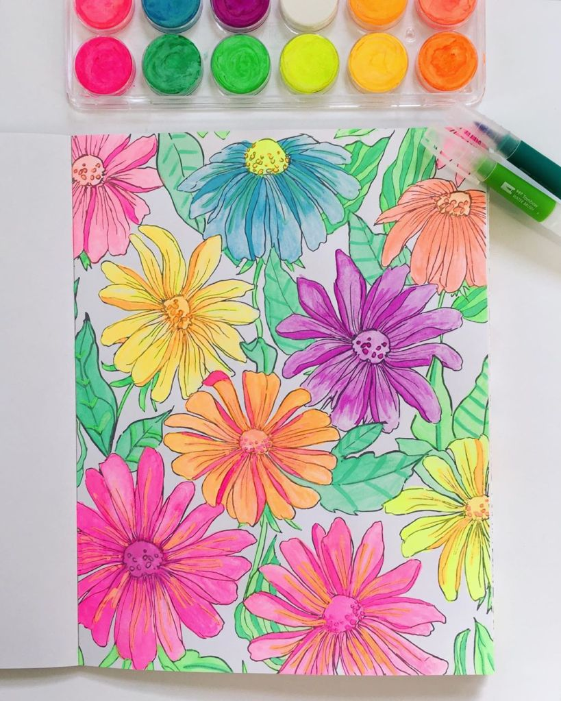 Beautiful watercolour flowers!