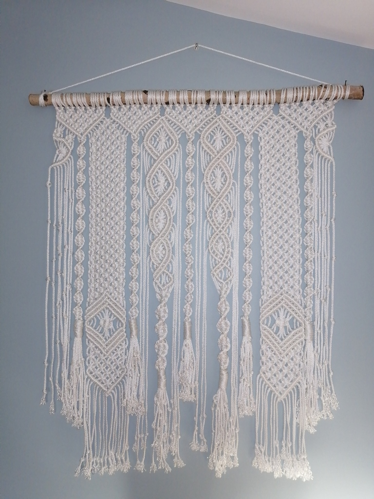 A gorgeous macrame wall hanging!