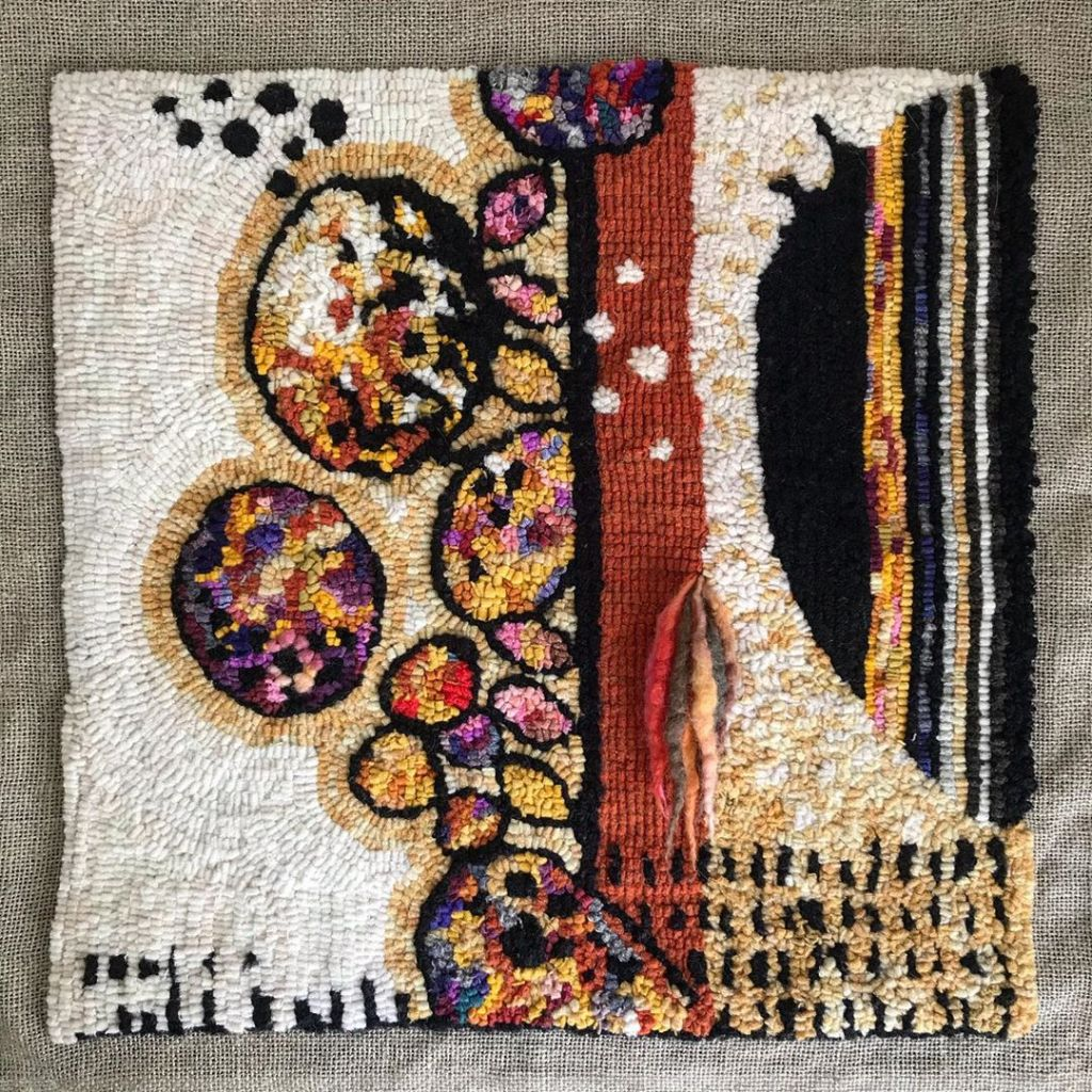 A ravishing rug hooking!
