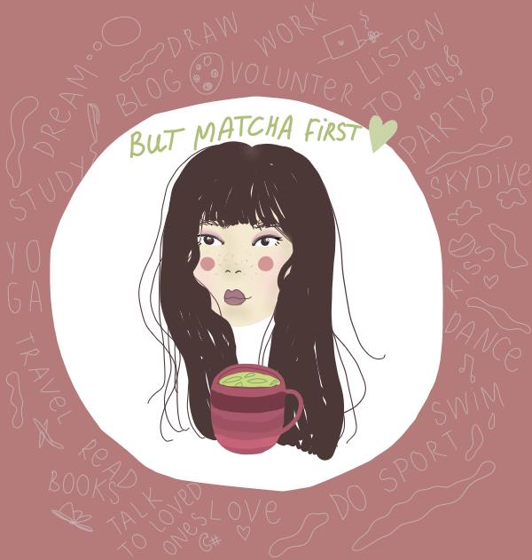 Digital Matcha Inspired Illustration!